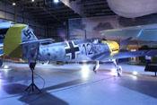 Blick von hinten rechts auf die Messerschmitt Bf 109 E-4 'WNr. 4101'