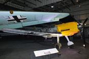 Ansicht der Messerschmitt Bf 109 E-4 'WNr. 4101' von vorne rechts
