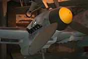 Spinner und Propeller des rechten Triebwerks der Messerschmitt Bf 110 F-2