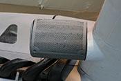 Filter der Tropenversion vor der Luftansaugleitung der Bf 110 F-2
