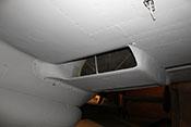 Kühlerverkleidung und Kühlstoffkühler des linken Triebwerks unter der Tragfläche