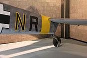 Rumpf-Endteil der Messerschmitt Bf 110 F-2 mit Spornrad und Höhenruder