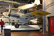 Ansicht der Messerschmitt Bf 110 F-2 LN+NR 'WNr. 5052' des Technikmuseums in Berlin-Kreuzberg