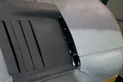 Wartungsklappe der Triebwerkgeräte und Abgasanlage des BMW 801
