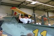 Probesitzen im Cockpit der Fw 190