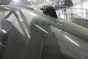 Antennenanschluss auf der Plexiglashaube
