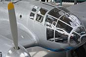 Blick auf den sogenannten 'Wintergarten' - die vollverglaste Kanzel des Cockpits