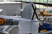 Heck der CASA C-2-111.B (Heinkel He 111 H-16) mit Seiten- und Höhenleitwerk