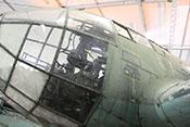Schiebefenster für den Flugzeugführer an der linken Kanzelseite