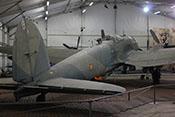 Rumpfheck des Bombenflugzeuges mit den Leitwerken