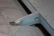 Anbindung und Gelenk des Höhenruders an der Leitwerksflosse