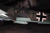 Blick auf den mittleren Rumpf der He 111 H-20 mit der Bodenwanne für den C-Stand-Schützen sowie dem oberen Antennmast