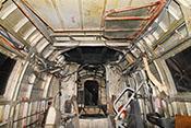 Verschlossene Öffnung für die Drehringlafette des B-Standes welcher bei der He 111 H-20 ursprünglich mit einem MG 131 ausgerüstet war