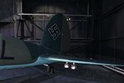 Seiten- und Höhenleitwerk der Heinkel He 111 H-20 des Royal-Airforce-Museums in London-Hendon