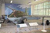 Ansicht der Messerschmitt Me 163 B 'Komet' des Militärhistorischen Museums Berlin-Gatow