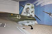 Querruder und Trimmklappe sowie Tragflächenübergang und Heck der Me 163 B 'Komet'