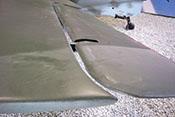 Linkes Querruder welches bei der Me 163 gleichzeitig  als Höhenruder wirkt