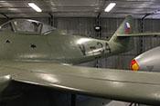 Tschechoslowakische Hoheitsabzeichen am Rumpfhinterteil und dem Leitwerk der Avia S-92 (Me 262 A-1a)