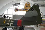 Leitwerksträger, Höhen- und Seitenleitwerk der Messerschmitt Me 262 A-2a