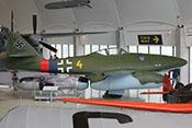 Profil der Me 262 - in der Randkappe der rechten Tragfläche fehlt die Positionsleuchte
