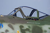 Dreiteiliger Windschutzaufbau der Messerschmitt Me 262