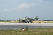 Die Me 262 auf der Rollbahn kurz vor dem Start der Flugvorführungen