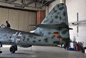 Leitwerksträger, Seiten- und Höhenleitwerk der Messerschmitt Me 262
