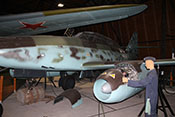 Doppelsitzer Messerschmitt Me 262 B-1a im Luftfahrtmuseum Prag-Kbely