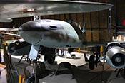 Ansicht der Messerschmitt Me 262 B-1a bzw. Avia CS-92 von vorne links