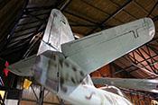 Leitwerksträger, Seiten- und Höhenleitwerk der Messerschmitt Me 262 B-1a