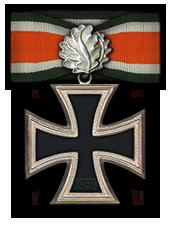 Eichenlaub zum Ritterkreuz des Eisernen Kreuzes (Verleihung nach 60 Luftsiegen)