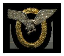 Flugzeugführerabzeichen in Gold mit Brillanten
