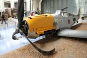 Blick auf die linke Triebwerksverkleidung der Messerschmitt Bf 109 E