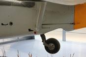 Unteres Heck der Bf 109 mit Spornrad