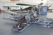 Wrack der Bf 109 mit Resten des DB-Flugtriebwerkes