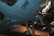 Blick von unten auf den Rumpfboden der Messerschmitt Bf 109 E-4