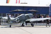 Ansicht der Messerschmitt Bf 109 G-10 von hinten rechts