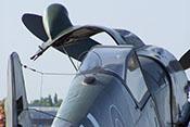 Erlahaube und Peilrahmen mit Antenne auf dem Rumpfrücken der Bf 109 G-10