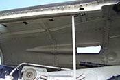 Innenansicht der oberen Triebwerkverkleidung der Messerschmitt Bf 109 G-10