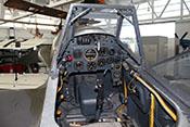 Instrumentenbrett und Windschutzaufbauvorderteil der Messerschmitt Bf 109 G-14
