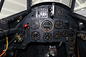 Gerätebrett in Holzbauweise der Messerschmitt Bf 109 G-14