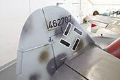 Flettnerklappe am Seitenruder der Bf 109 G-14