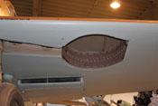 Fahrwerkschacht mit Verkleidung und Wasserkühler der Bf 109 G-2