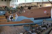 Oberes Haubenteil der Bf 109 G-2 mit Handlochdeckel und Wappen der II. Gruppe des JG27