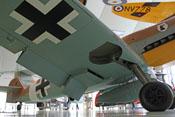 Blick unter die rechte Tragfläche der Messerschmitt Bf 109 G-2