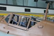 Vorderer, mittlerer und hinterer Windschutzaufbau sowie der Antennenmast der Messerschmitt Bf 109 G-2