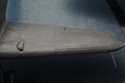 Tragfläche mit Beule für das vergrößerte Laufrad (660 x 160 mm), Vorflügel und Pitotrohr