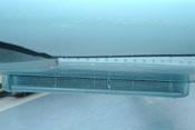 Kühlstoffkühler der rechten Tragfläche von vorne gesehen