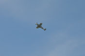 Flugvorführung der Bf 109 G-4 'rote 7' - Steigflug