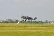 Bf 109 beim Landeanflug nach absolvierter Flugvorführung auf der ILA